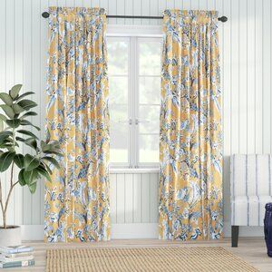 Wallpops 18 L X 20 5 W Beachwood Peel And Stick Wallpaper Roll Reviews Wayfair Floral Curtains Panel Curtains Rod Pocket Curtain Panels