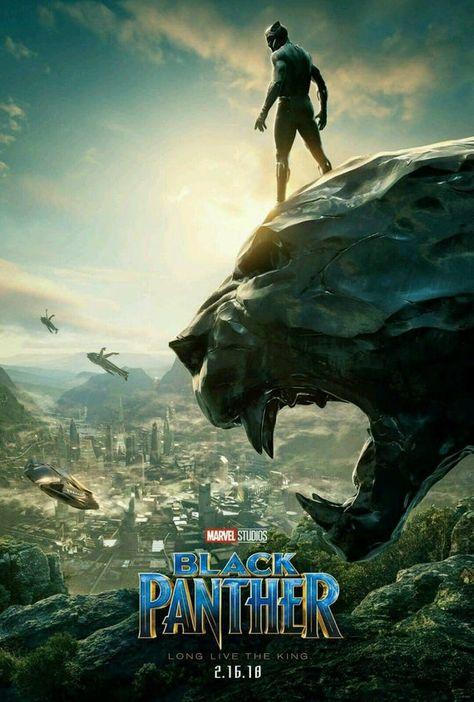BLACK PANTHER Chadwick Boseman 2018 Marvel Movie Silk Poster 13x20 32x48 inch