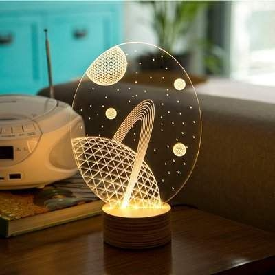 Studio Cheha Galaxy Led Illusion 9 Table Lamp Studio Cheha