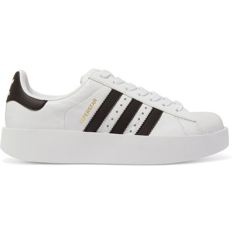 los angeles ab18d a86e7 adidas Originals Superstar Bold leather sneakers (475 ILS) ❤ liked on  Polyvore featuring shoes