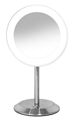 Conair Single Sided Lighted Makeup Mirror Lighted Vanity Makeup Mirror With Led Lights 8x Magnificat Makeup Mirror With Lights Mirror With Led Lights Mirror