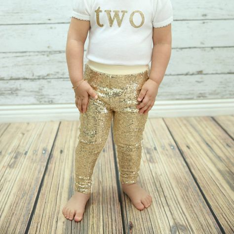 gold baby leggings gold sparkle pants gold girls by PoshPeanutKids