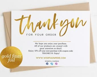 Instant Thank You Cards Business Editable Pdf Purchase Thank Etsy Business Thank You Thank You Card Template Thank You Cards
