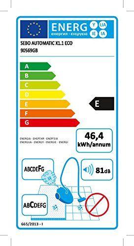 Sebo Automatic X1 1 Eco Vacuum Cleaner 1100 W Energy Class E