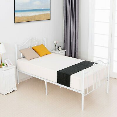 Details About Twin Xl Size Metal Bed Frame Headboard Footboard
