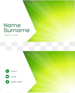 Vector Green Geometric Business Card Business Cards Free