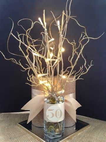 50th Wedding Anniversary Decoration Ideas Best Of Anniversary 50th Final Centerpiece Artisanat Perayaan Pernikahan