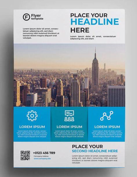 Corporate Flyer Design AI, EPS