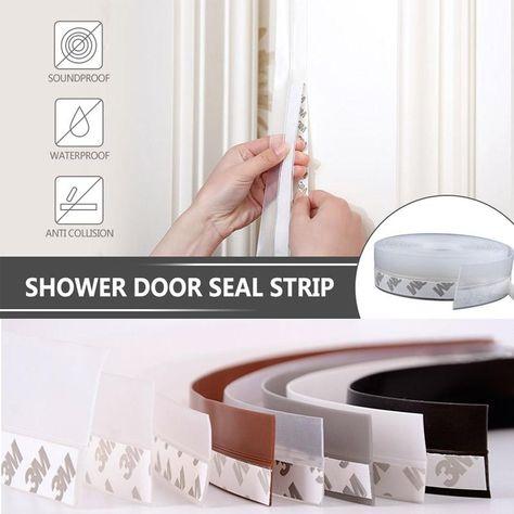 Weather Stripping Door Seal Strip In 2020 Door Seals Weather Stripping Shower Door Seal