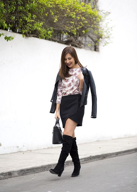 Lazy & cozy w/ over the knee boots - fake leather blog | Knee boot, Autumn  fall and Jumper