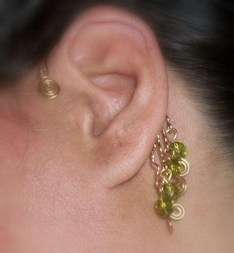 Gold Plate Ear Cuff Heart Drop Blank