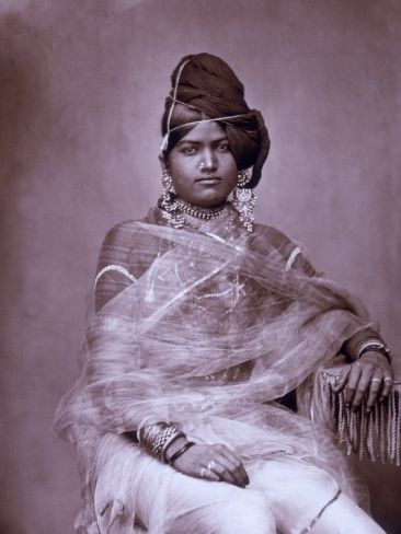 Portrait of a Woman in the Harem of the Royal Palace of Jaipur, India