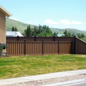Perimeter Fence Design Trex perimeter fencing saddle color fence with woodland brown posts trex perimeter fencing saddle color fence with woodland brown posts casa pinterest fences woods and blog workwithnaturefo