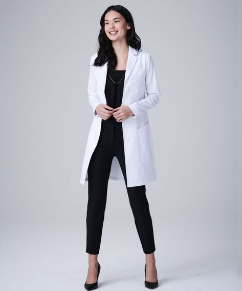 The Vandi Element is an ultra modern, slimming women's lab coat with unique seaming for a sporty look. Shop Medelita for athletic fit white lab coats for women. Doctor White Coat, Doctor Coat, White Coat Outfit, White Lab Coat, White Coat Ceremony, Coats For Women, Clothes For Women, Lab Coats, Women's Coats
