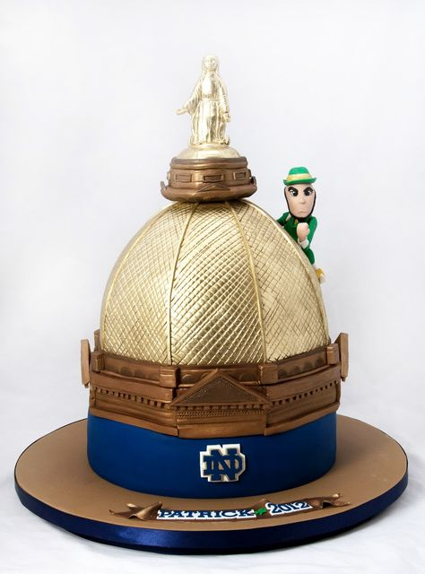Notre Dame Cake | Notre Dame College Football Sports Grooms Cake Wedding Topper Picture