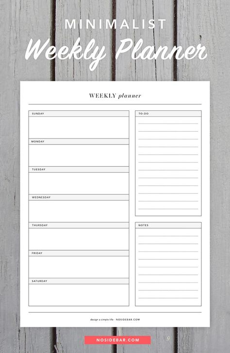 Use this free minimalist weekly planner printable to help design a simple life. Use this free minimalist weekly planner printable to help design a simple life.