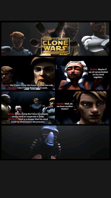 Anakin, Obi-Wan and Windu use their Jedi mind trick on Bane