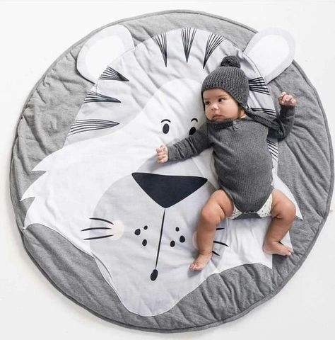 Lion Face Quilted Play Mats for Baby