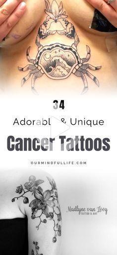 42 unieke Kreeft Zodiac-tatoeages voor The Moonchild