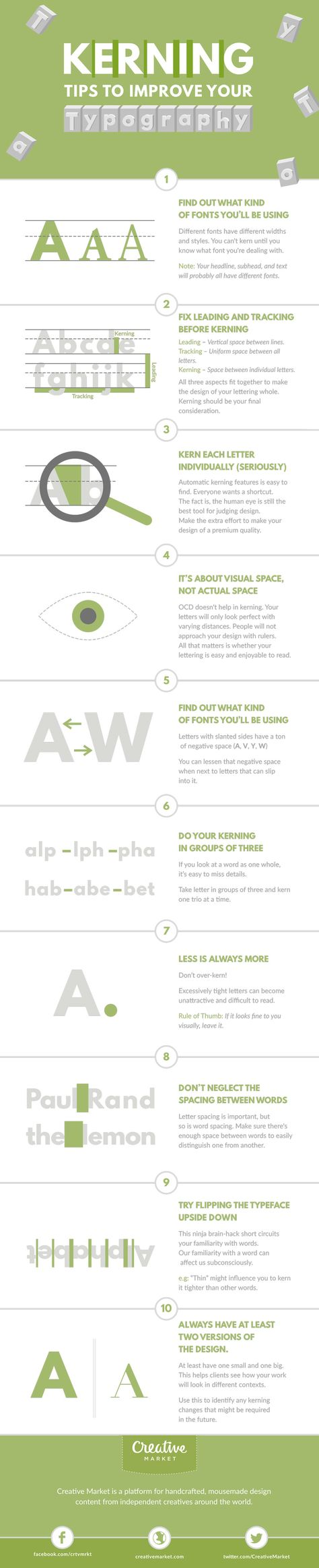 On the Creative Market Blog - Infographic: Kerning Tips to Improve Your Typography