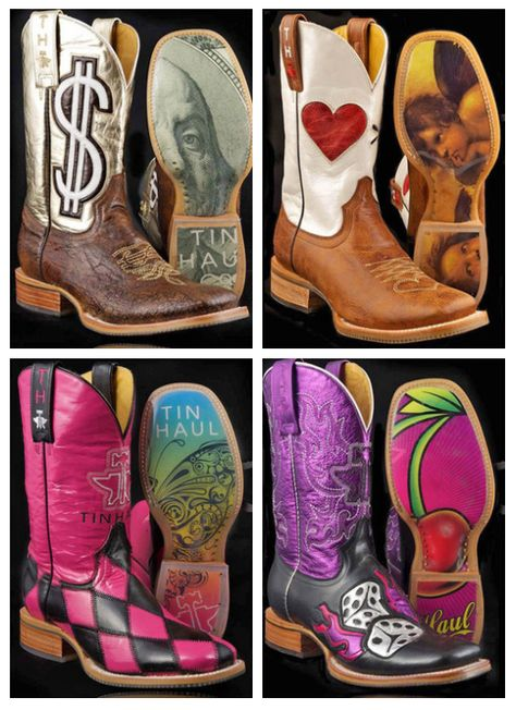 4335cd16a805bb Tin Haul Cowgirl Boots: 1) Gold Digger , 2) Greater Than, 3) Harlequin, and  4) Hot Dice