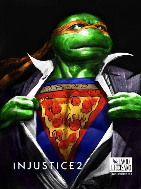 Michelangelo Injustice 2 By Flavioluccisano Injustice Tmnt Injustice 2