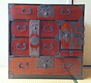 Antique Japanese Furniture Clothes Chest Interior Cabinet 1800s Tansu Samurai Ebay Decoration Interieure Decoration Cabinet