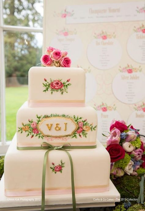 Pretty Hand Painted Cake With Roses