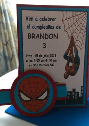 Invitaciones Del Hombre Araña Hechas A Mano Invitaciones