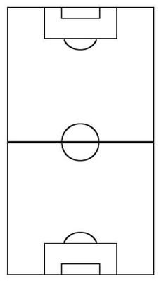 picture about Printable Soccer Field Diagram referred to as Blank Football Sector Diagram 16 - 236 X 410