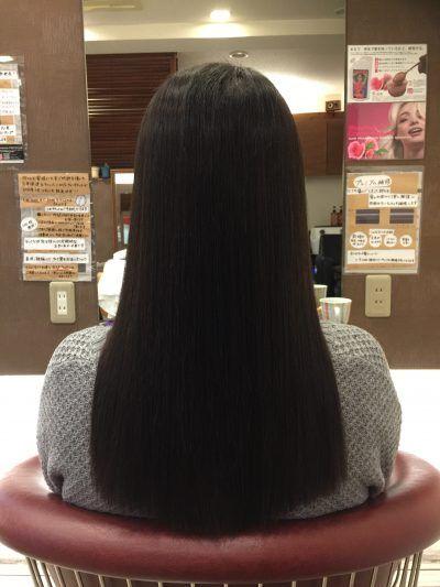実は後ろから見られているんです 髪 ストレート 縮毛矯正