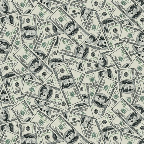 Show Me the Money Green Tossed $100 Bills Fabric
