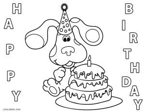 Free Printable Blues Clues Coloring Pages For Kids Cool2bkids Birthday Coloring Pages Blues Clues Coloring Pages
