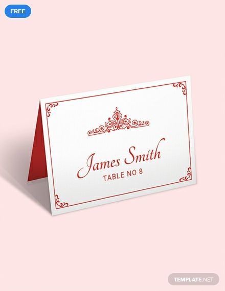 Here S A Professionally Formatted Place Card Template For The Upcoming Wedding This Place Card Template Wedding Place Card Templates Free Place Card Template