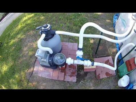 Summer Waves Elite Pool Upgrade Conversion To Intex Sand Filter W Direct Vacuum Line Attachment Pt 2 Yo Sand Filter For Pool Pool Pumps And Filters Pool Sand
