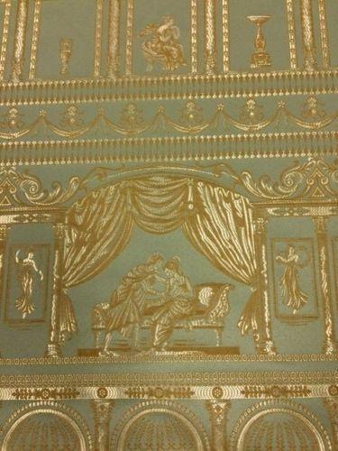 GREEK SCENES COLOUR WOVEN DESIGN