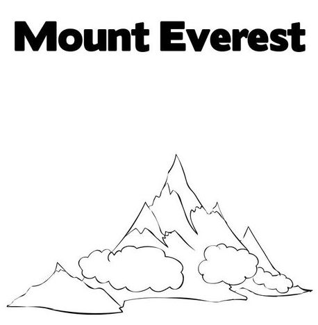 Mt Everest Coloring Pages