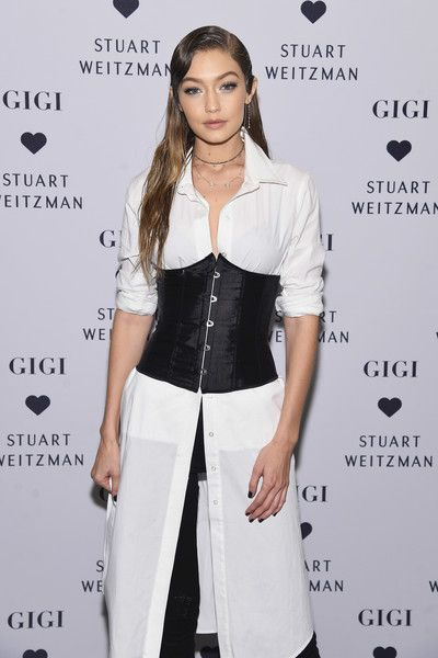 Gigi Hadid attends Stuart Weitzman's Launch of the Gigi Boot in NYC.