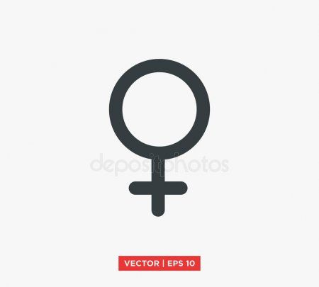 female gender symbol icon vector illustration stock vector spon symbol gender female icon ad pinterest