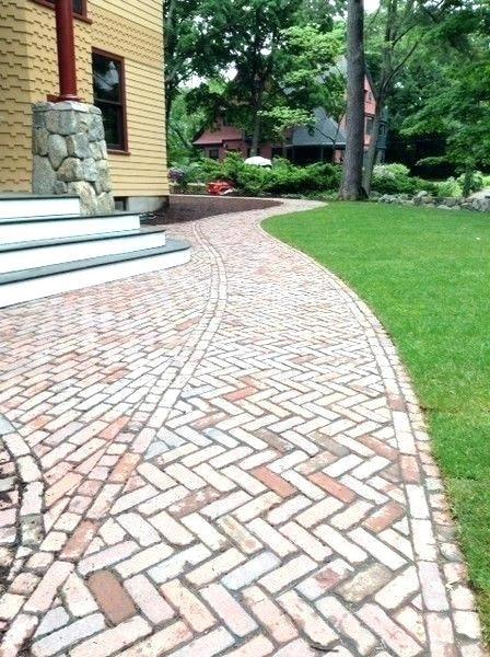 Brick Walkway Patterns Antique Paving Used In This Herringbone
