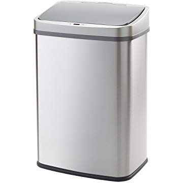 Wy 全自動ダストボックス ゴミ箱 大容量45リットル センサー付き 近づくだけでフタが自動開閉 静音タイプ センサー感知範囲調整機能付き ふた付き ステンレス キッチン ごみ箱 分別シール付属 Wy Hm013 ゴミ箱 キッチン ゴミ箱