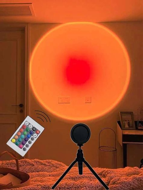 1pc Led Sunset Light With Remote Control