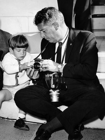 Photo John F Kennedy Jr Looks At Cameras Of White House Photographer Capt Cecil Stoughton Nov 11 1963 24x18in Kennedy Jr John F Kennedy Jfk Jr