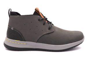 SKECHERS 65695 GRY GRIGIO Scarponcino Sneakers Polacco ...