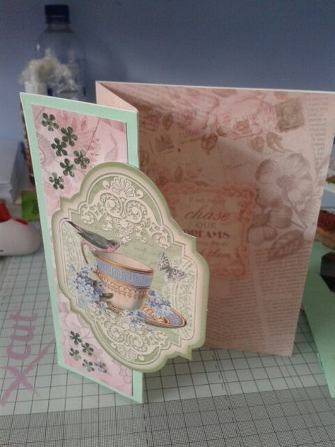 """Envelopes 5 Pack 6/"""" x 6/"""" SHA216 HUNKYDORY Fancy Shaped Cards BOX STEPPER CARDS"""