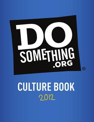 DoSomething.org 2012 Culture Book
