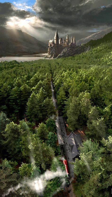 Harry Potter Journey on the Hogwarts Express Stuart Craig SIGNED Warners Canvas Limited Ed of 250