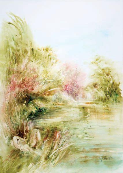 Joelle Krupa Astruc Paysage Aquarelle Peinture Paysage