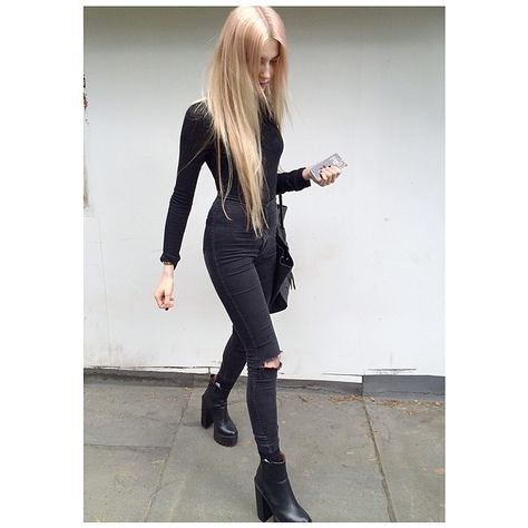 All black fashion style
