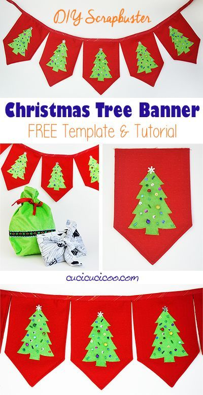 Diy Christmas Tree Banner Template And Tutorial Cucicucicoo Christmas Banner Diy Handmade Holiday Christmas Diy